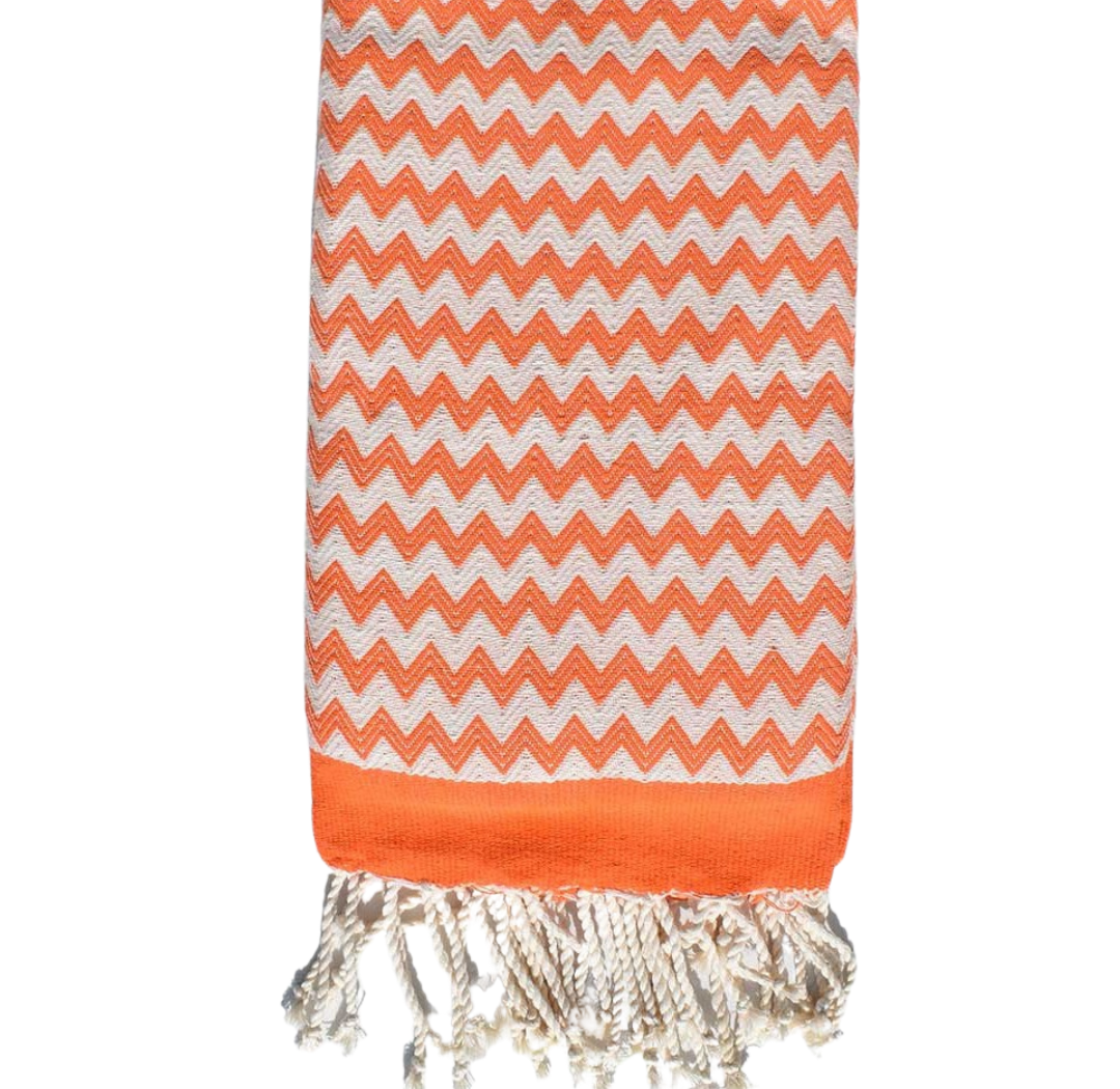 FOUTA ZIGZAG ORANGE